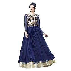 Women's Latest Designer Long Gown (Blue)