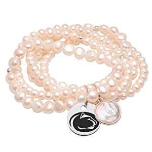 Penn State Nittany Lions 5 Strand Pearl Stretch Bracelet by College Jewelry
