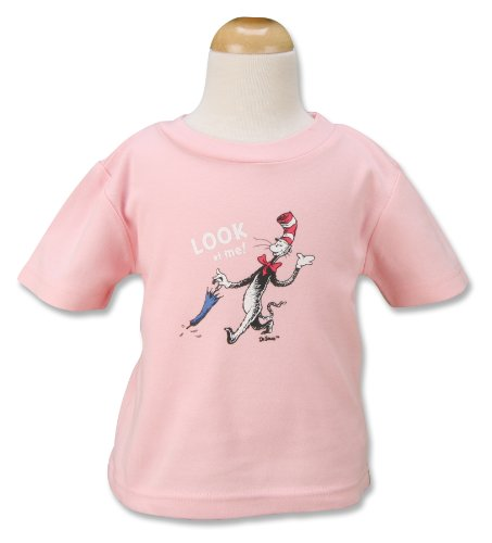 Trend Lab Dr. Seuss T-Shirt, Cat In The Hat, Pink, 24 Months - 1