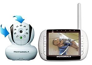 """Motorola MBP36 - Vigilabebés digital de audio y video de 3,5"""", color blanco de Motorola - Bebe Hogar"""