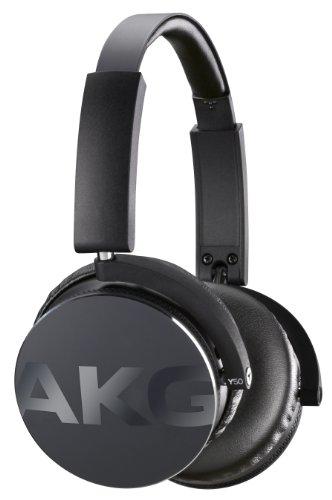 AKG Y50 Cuffie Portatili Pieghevoli con Cavo Rimovibile e Controllo Remoto Volume/Microfono, Compatibili con Dispositivi Apple iOS e Android, Nero