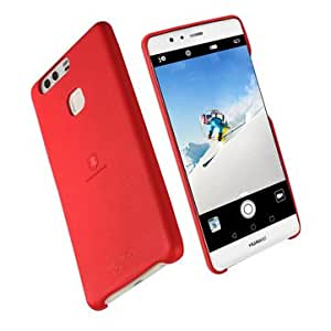 LENUO Leather PU Soft Slim Protective Case For Huawei P9 Plus-Red