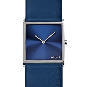 a.b.art Damen-Armbanduhr E109 Analog Leder blau E109