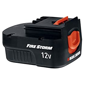 Black & Decker FSB12 FireStorm 12-Volt 1.2 Amp Hour NiCad Slide Style Battery