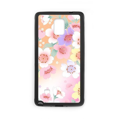 Fashion Design Colorful Pink Flower Hard Protective Back Cover for SamSung Galaxy Note4 Phone (Chucky Doll For Sale Cheap)