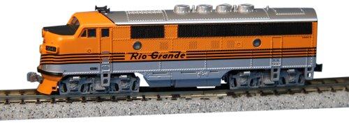 Kato Usa Model Train Products Emd F3A #5541 Denver And Rio Grande Western N Scale Train