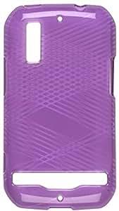 Sprint Motorola Photon 4G Dura-Gel Criss Cross Case - Purple Sprint Original - Carrying Case - Retail Packaging - Purple
