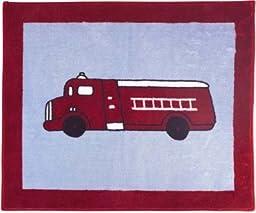JOJO Designs Frankie\'s Firetruck Floor Rug
