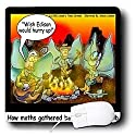 Londons Times Funny Bugs and Slugs Cartoons - Moth Gatherings Before The Lightbulb - Mouse Pads