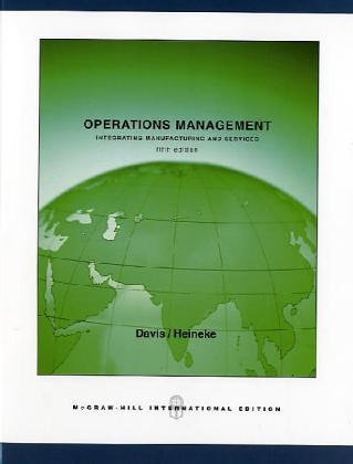 Operations Management, Integrating Manufacturing and Services
