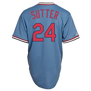 Bruce Sutter St Louis Cardinals Replica Cooperstown Jersey by Majestic by Majestic