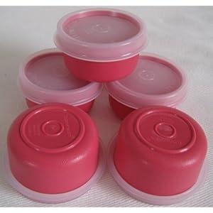 Tupperware Smidget Container 1oz Set of 5 Pink