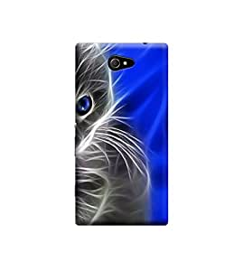 Ebby Premium Printed Back Case Cover With Full protection For Sony Xperia M2 (Designer Case)