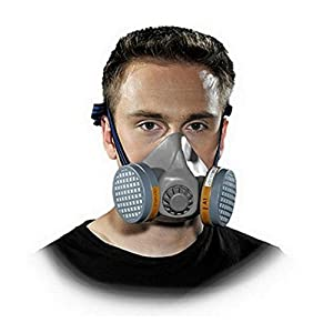 Profi Halbmaske Lackiermaske Atemschutzmaske Atemschutz Gasmaske ohne Filter