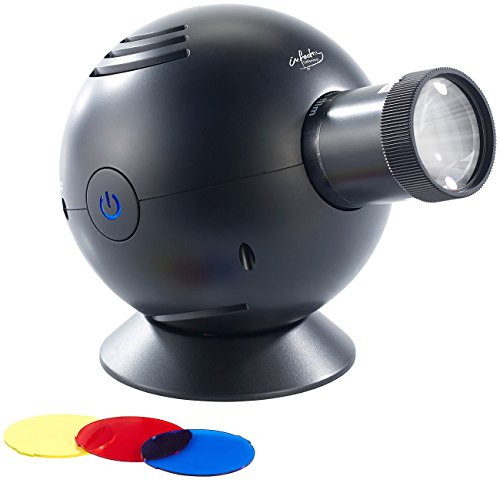 infactory-LED-Uhrenprojektor-mit-3-Farbfiltern-blau-gelb-rot