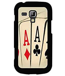 printtech Cards Aces Back Case Cover for Samsung Galaxy S Duos S7562