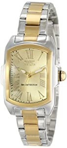 Invicta Women's 15156 Lupah Champagne Dial Two Tone Stainless Steel Watch