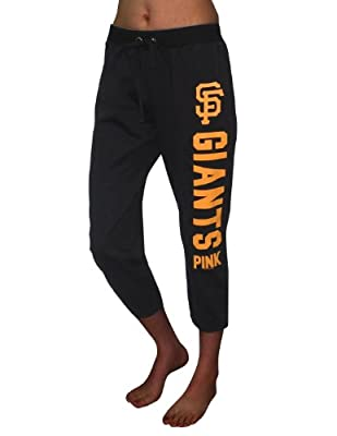 Pink Victoria's Secret Womens MLB San Francisco Giants Yoga Crop Pants