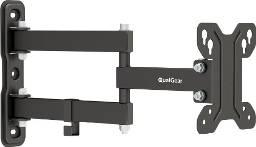 QualGear QG-TM-007-BLK 13-Inch to 27-Inch Universal Low Profile Full Motion Wall Mount LED TVs, Black (Low Profile Monitor Wall Mount compare prices)