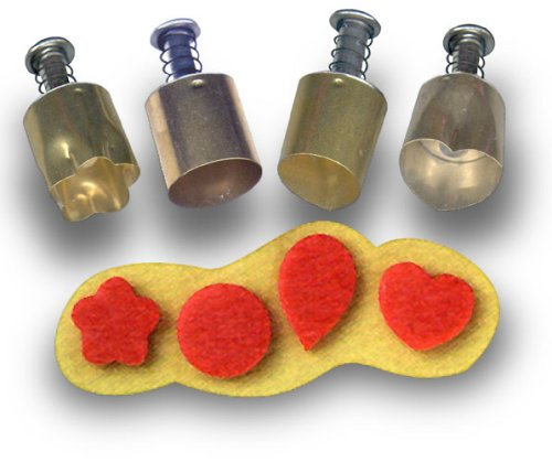 Kemper Tool Co Educational Products - Plunger Style Cutters Can Be Used to Cut Out Shapes From Clay, Dough and Other Materials (Set of 4) - Versatile cutters work on any pliable material