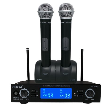 Rsq Uhf6032Se Dual Mic 32 Channel Uhf Rechargeable System
