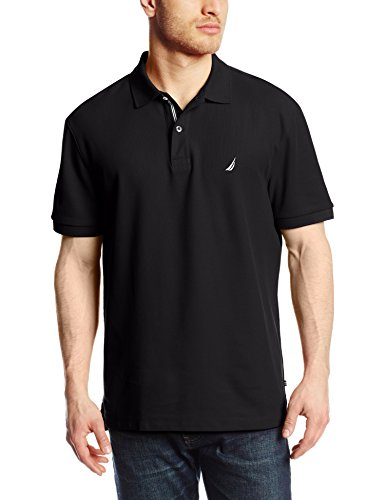 Nautica Men's Short Sleeve Solid Deck Polo Shirt