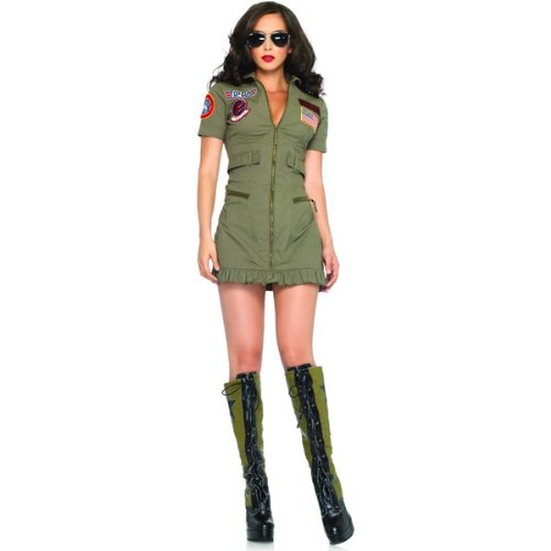 Top Gun Women's Flight Dress Costume - Medium - Dress Size 8-10