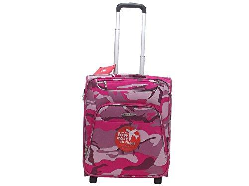 Roncato valigia trolley cabina Runner 407294, due ruote, morbido poliestere camouflage fuxia 69