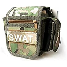 Qike Waterproof Fanny Pack Military Hip Bag EDC Tactical Waist Pack Bag Molle Pouches Utility Belt Bag For Hiking...