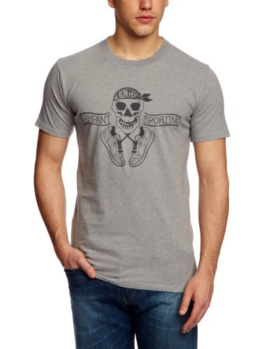 Rampant Classic Printed Men's T-Shirt Mid Grey Medium