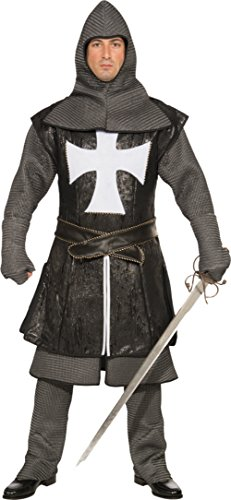 Forum Novelties Mens Black Knight Deluxe Medieval Theme Party Fancy Costume