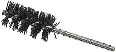 """Osborn 56016SP Abrasive Tube Brush, Silicon Carbide Fill Material, 1-1/4"""" Diameter, 2-1/2"""" Diameter, 5-1/2"""" Overall Length, 0.238"""" Stem Diameter, 80 Grit Size"""