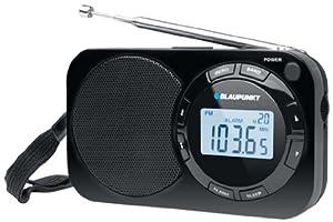 Blaupunkt BD 320 Radio réveil Digitale de Voyage avec PLL FM/MW Noir