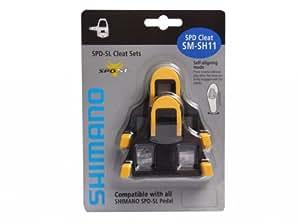 Shimano SM-SH 11 SPD-SL Racing Bike Plate Set, Yellow / Black