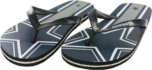 Dallas Cowboys Adult Unisex Big Logo Flip Flop Sandals, X-Small (Women's 5-6) at Amazon.com