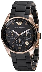 Emporio Armani Women's AR5906 Fashion Black Dial Watch