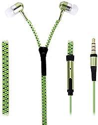 Connexions accessories zipper in ear earphones headsets-Green