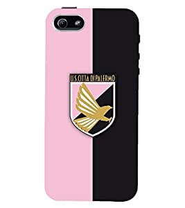 TOUCHNER (TN) Pink Black Logo Back Case Cover for Apple iPhone 5::Apple iPhone 5S