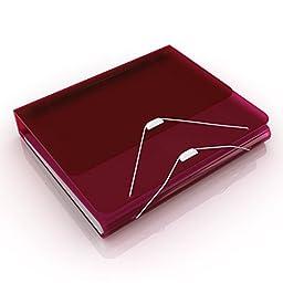 Samsill DUO 2-in-1 Organizer - 1 Inch 3 Ring Binder + 7 Pocket Accordion / Expanding File (Tax Organizer)- Burgundy