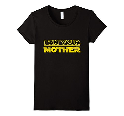 Women's I Am Your Mother Funny Vintage 80s Mother's Day Geek T-Shirt Large Black