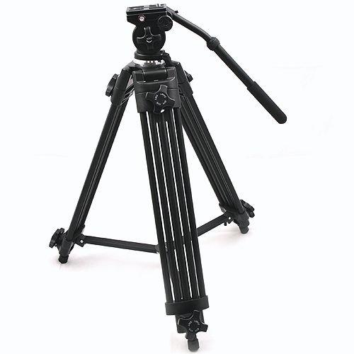 ePhoto WF717 Professional Heavy Duty Video Camcorder Tripod with Fluid Drag Head