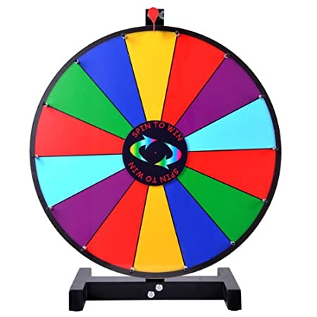 24 inches diameter round tabletop color dry erase spin board prize wheel 14 clicker slots w blk. Black Bedroom Furniture Sets. Home Design Ideas