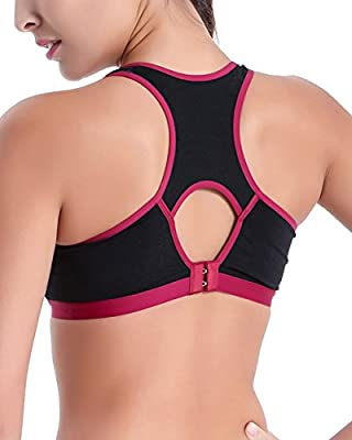 Clothin Ladies Push Up Racerback Seamless Heart-shaped Cup Sports bra Gym Tank