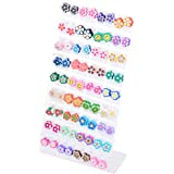 36 Cute Mix Colourful Fimo Flower Earrings Studs Slices Handmade