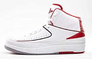 Nike Air Jordan 2 II Retro White Red OG 385-475-102 Size 13.5