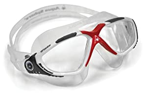 Aqua Sphere Vista Swim Mask, White/Red, Clear
