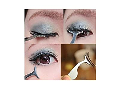 False Eyelash Extension Stainless Auxiliary Clip Tweezers Nipper Beauty Tool Newest