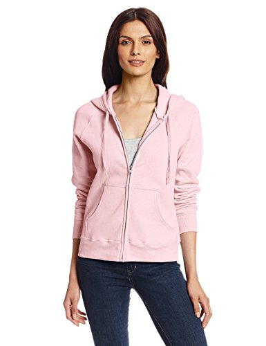 Hanes Womens Full Zip Ecosmart Fleece Hoodie