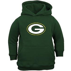 NFL Reebok Green Bay Packers Toddler Green Primary Logo Hoodie Sweatshirt from Reebok
