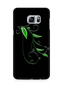 Amez designer printed 3d premium high quality back case cover for Samsung Galaxy S6 Edge Plus (Abstract Dark 17)